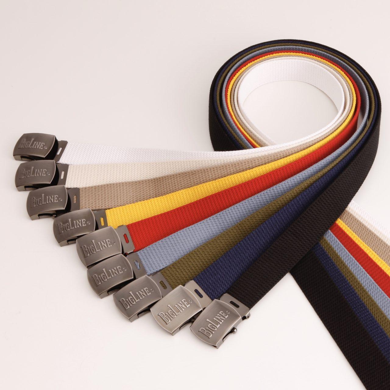 32ミリ幅 コットン GIガチャベルト BIGLINEロゴ入り 選べる9色 日本製 自社生産