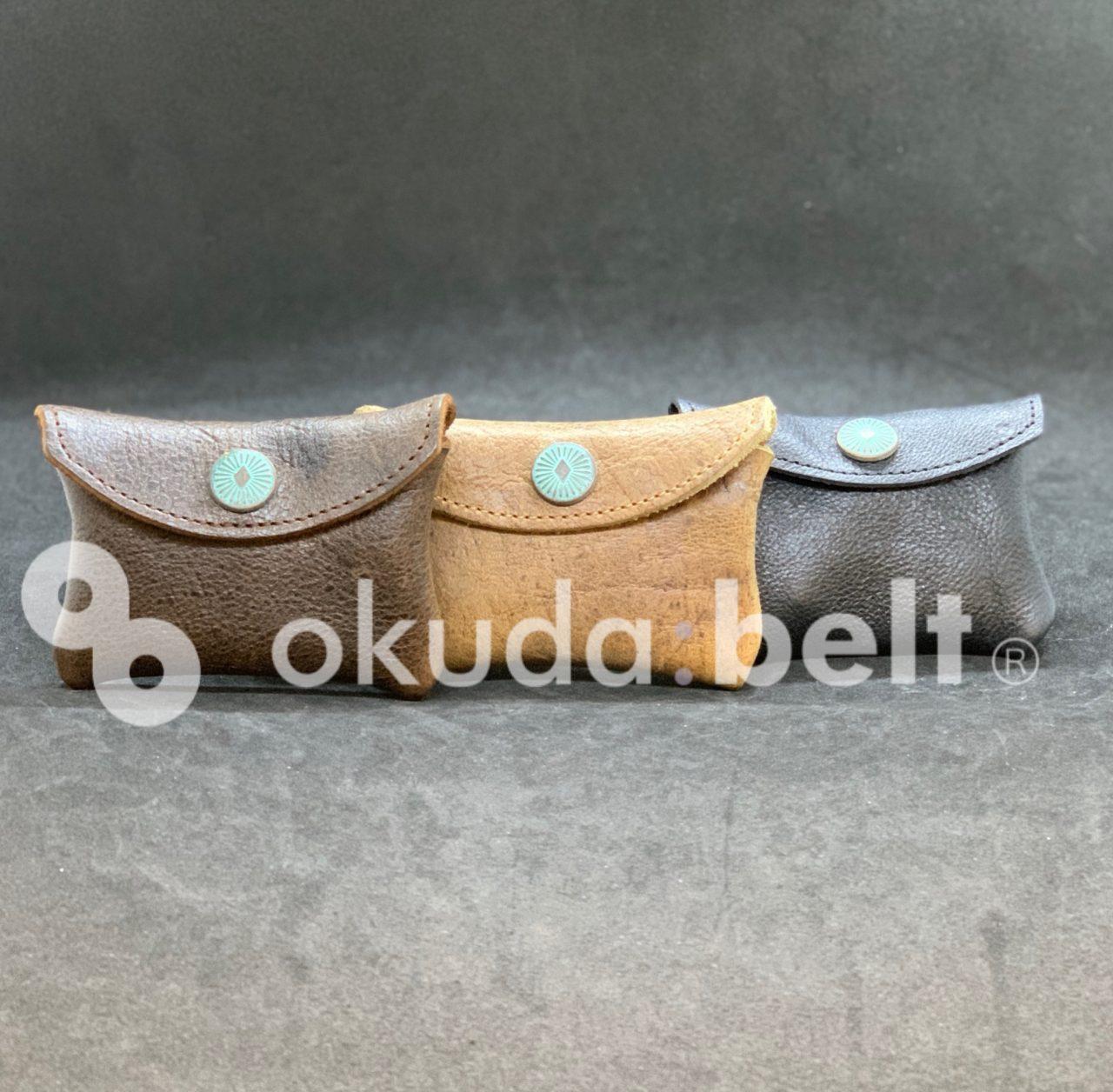 希少なkuduレザーを使用したコロンとかわい本革コインケース