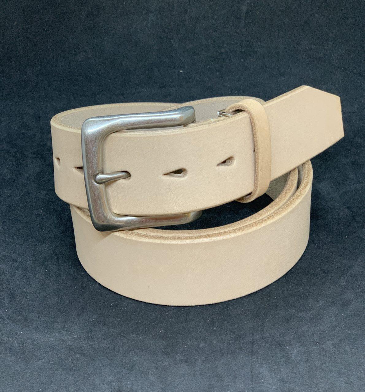 栃木レザー  本革ベルト 40ミリ デニムにハマる  匠仕上げレザーベルト