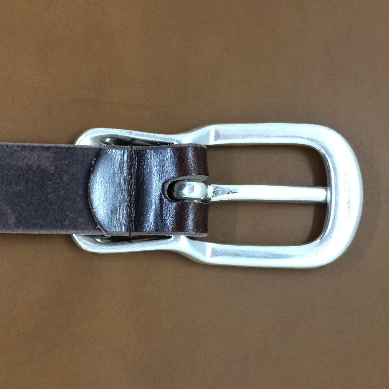 栃木レザー  本革ベルト デニムにバッチリ合う30ミリ幅 レザーベルト 自社生産
