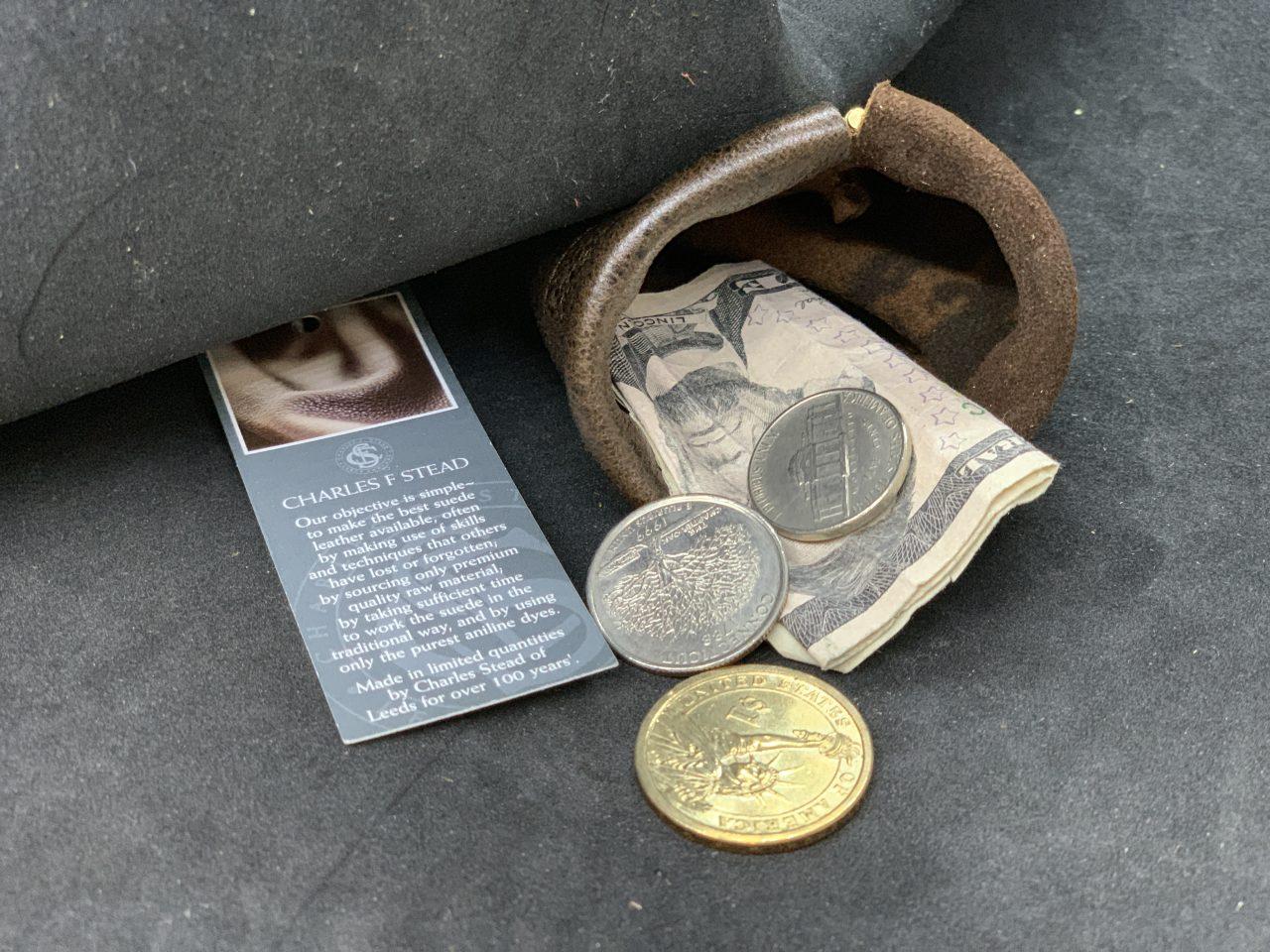 コインケース 小銭入れ パカパカ 希少な kudu クードゥー 本革 ワンタッチ バ ネ口金式 自社生産 日本製 革小物