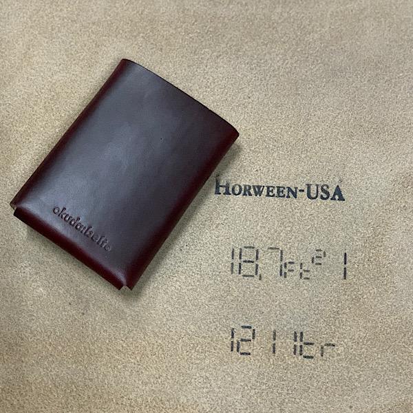 fold Wallet Horween Chromexcel 折りたたみ 本革財布 3つ折り日本製